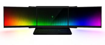 Razer viste frem spillbærbar med tre 4K-skjermer